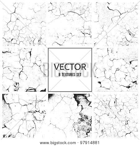 Cracked paint vector texture. Grunge background