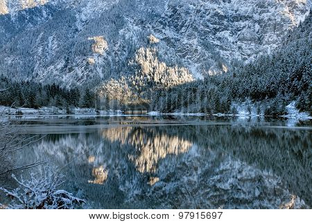 Winter Reflection Scene, Austria