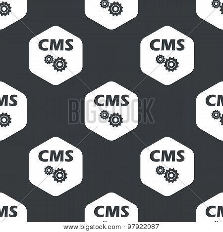 Black hexagon CMS settings pattern