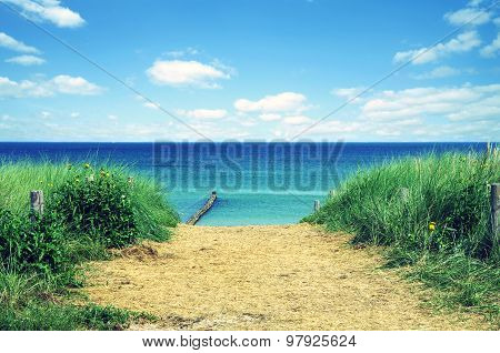 beach at baltic sea at usedom in germany