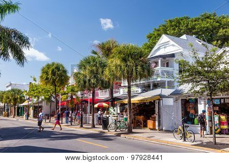 View Of Downtown Key West, Florida