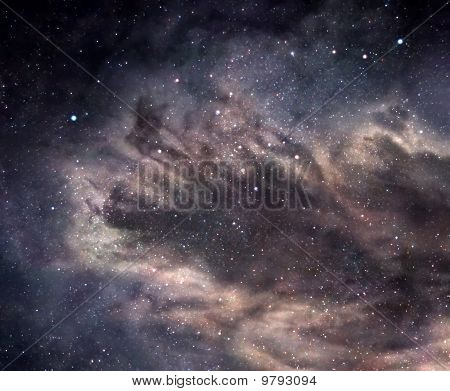Space image of fanciful dark nebula deep in space poster
