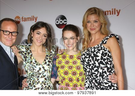 LOS ANGELES - AUG 4:  Clark Gregg, Chloe Bennet, Elizabeth Henstridge, Adrianne Palicki at the ABC TCA Summer Press Tour 2015 Party at the Beverly Hilton Hotel on August 4, 2015 in Beverly Hills, CA