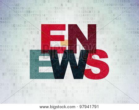 News concept: E-news on Digital Paper background