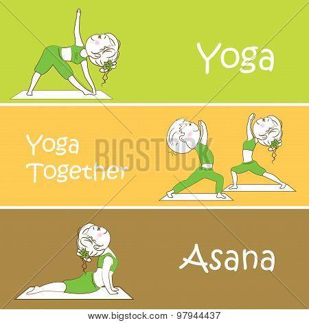 Yoga Vector Banner. Professional Banner