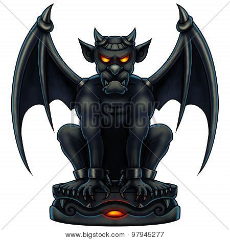 Halloween Gargoyle - Digital Painting