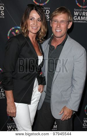 LOS ANGELES - JUL 31: Nadia Comaneci, Bart Conner at the Special Inaugural Dance Challenge at the Wallis Annenberg Center For The Performing Arts on July 31, 2015 in Beverly Hills, CA