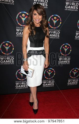 LOS ANGELES - JUL 31: Paula Abdul at the Special Inaugural Dance Challenge at the Wallis Annenberg Center For The Performing Arts on July 31, 2015 in Beverly Hills, CA