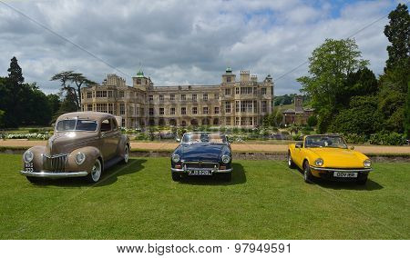 Three classic cars on show at Audley end House