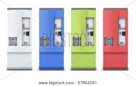 Vending Machine Different Colors
