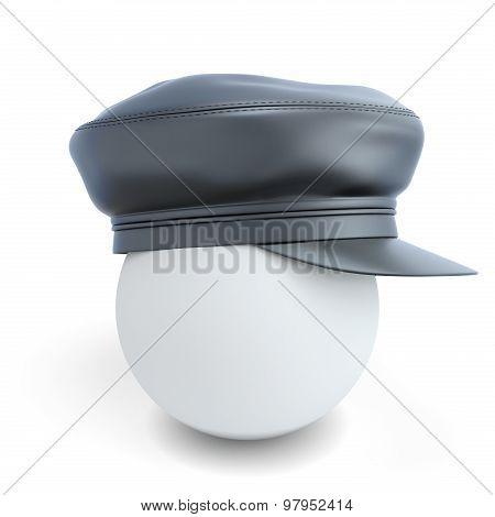 Black Leather Cap