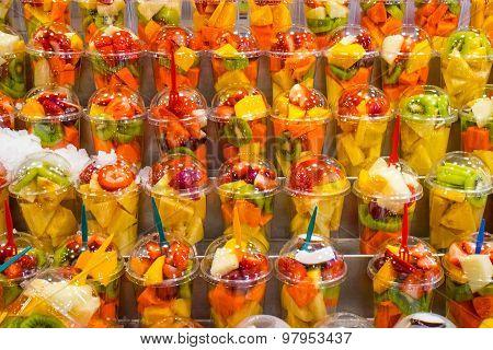 Fruit salads for sale