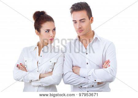 Couple in divorce crisis