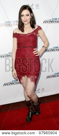 LOS ANGELES, CA - AUGUST 1: Adrienne Wilkinson arrives at the premiere of Star Trek: Renegades at the Crest Theatre on August 1, 2015 in Los Angeles, CA.