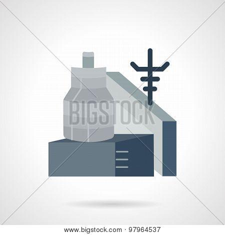 Metalworking factory flat vector icon