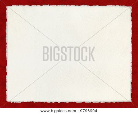 Deckled Paper On Red