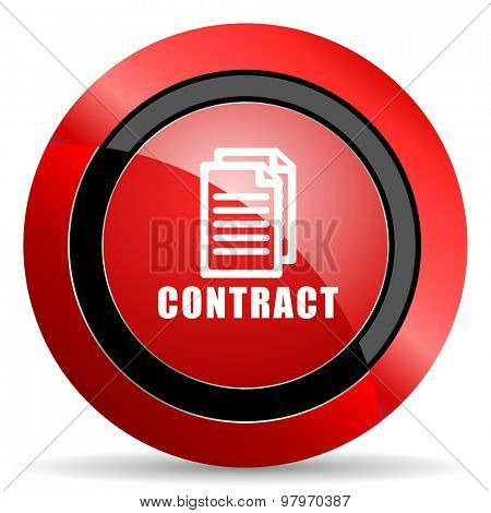 contract red glossy web icon  poster