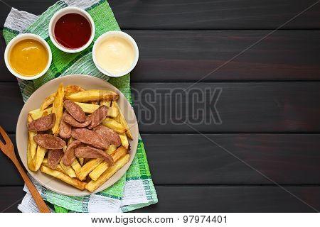 Salchipapas South American Fast Food