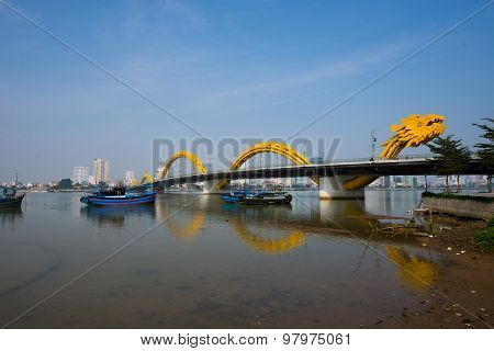 Dragon Bridge in Da Nang, Vietnam