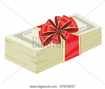 Money in gift to packing