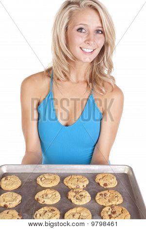 Blue Top Cookies Smile