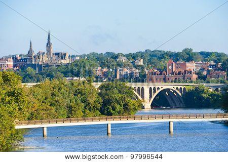 Washington DC - Georgetown and Key Bridge