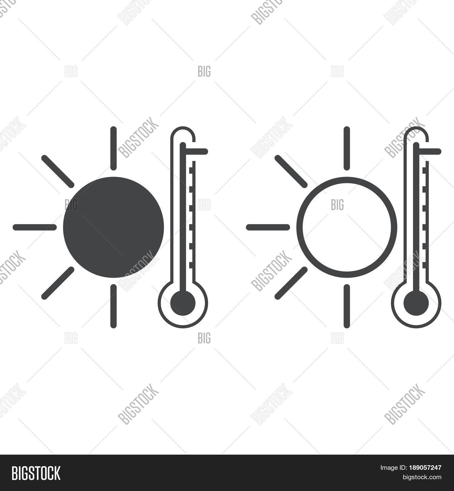 Hot Weather Icon Vector Photo Free Trial Bigstock