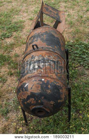 KRUMOVO, PLOVDIV, BULGARIA - 29 APRIL 2017: Aviation bomb in Aviation Museum near Plovdiv Airport, Bulgaria