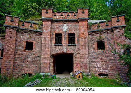 Entrance to abandoned Prussian fort