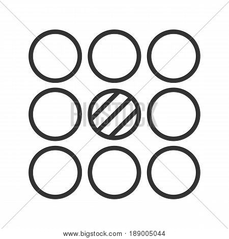 Contradictory symbol linear icon. Thin line illustration. Abstract metaphor contour symbol. Vector isolated outline drawing