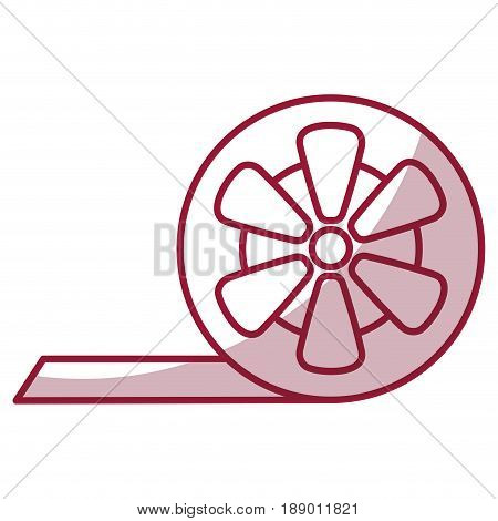 tape reel isolated icon vector illustration design