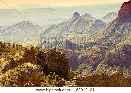 Chisos Mountains Big Bend National Park Texas Us