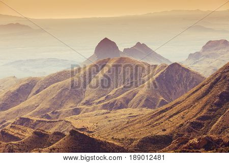 Big Bend National Park Chisos Mountains Texas Usa