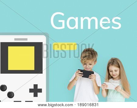 Illustration of portable handheld game device