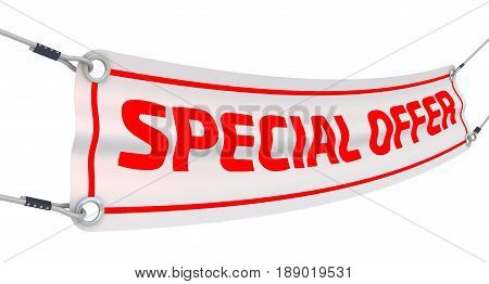Special offer. Advertising banner with inscriptions