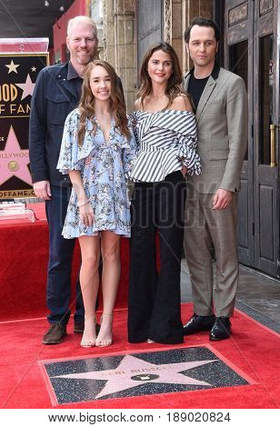 LOS ANGELES - MAY 30:  Keri Russell, Matthew Rhys, Noah Emmerich and Holly Taylor arrives for the Walk of Fame honoring Keri Russell on May 30, 2017 in Hollywood, CA