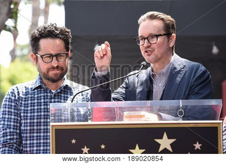 LOS ANGELES - MAY 30:  J.J. Abrams and Matt Reeves arrives for the Walk of Fame honoring Keri Russell on May 30, 2017 in Hollywood, CA