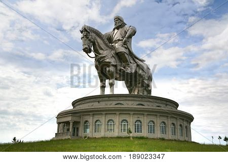 Ulaanbaatar Mongolia July 3 ,2016 At The Genghis Khan Statue On Horseback, At Tsonjin Boldogeast Of