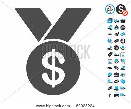 Bestseller gray icon with free bonus pictures. Vector illustration style is flat iconic symbols.