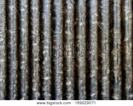 Closeup of zinc roof or zinc texture zinc background. poster