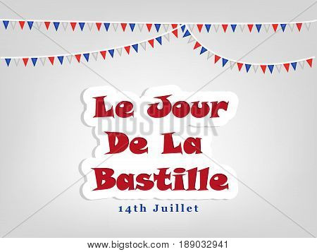 illustration of Le Jour de La Bastille Text on occasion of Bastille Day