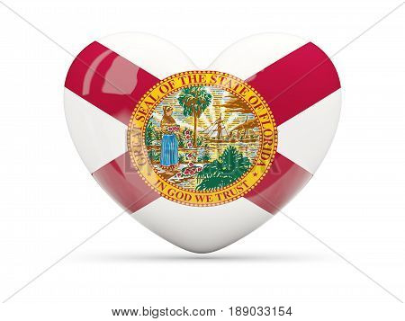 Flag Of Florida, Us State Heart Icon