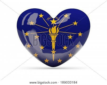 Flag Of Indiana, Us State Heart Icon
