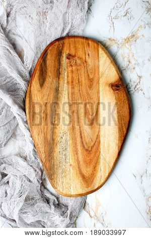 Wooden Empty Chopping Board On Table