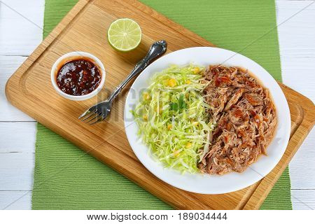 Juicy Pulled Meat With Fresh Coleslaw