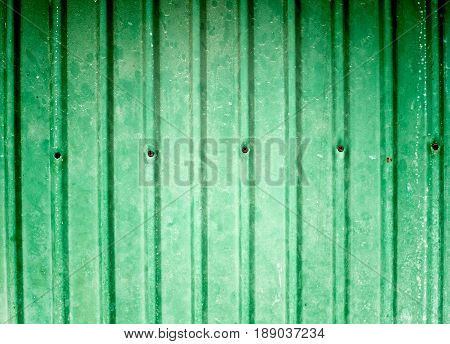 Abstract green zinc texture background., retro style
