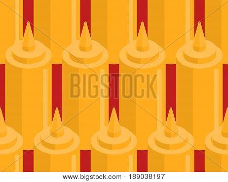 Mustard Bottle Fastfood Seamless Pattern. Fast Food Seasoning Background. Food Ornament