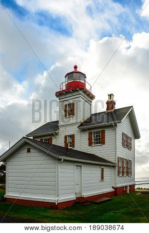 Yaquina Bay Lighthouse taken at State Park along Hwy 101