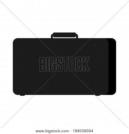 Black Case Isolated. Suitcase On White Background
