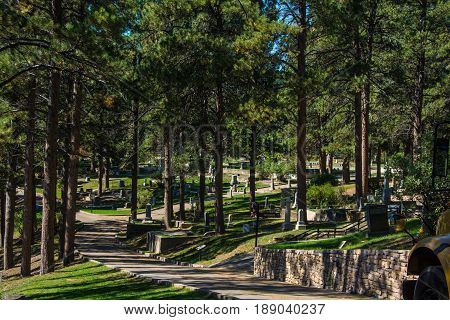 Cemetery where Wild Bill Hickock was buried - Deadwood SD